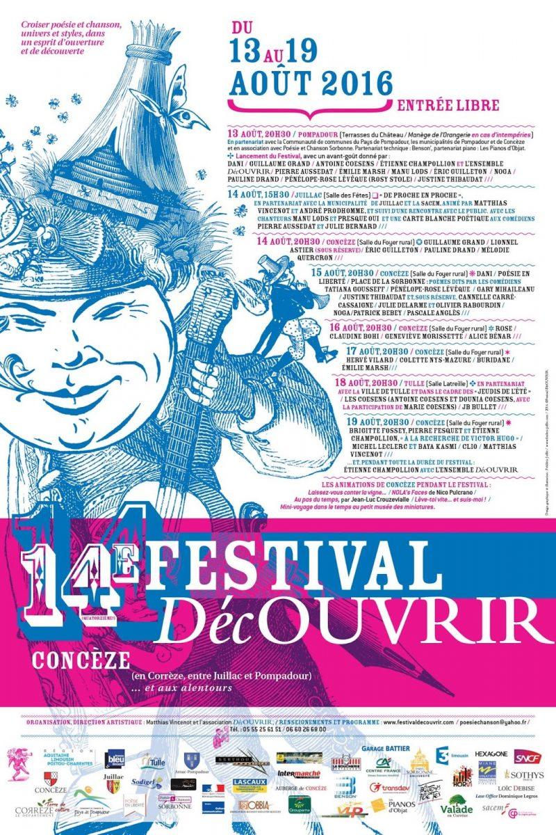 14ème Festival DécOUVRIR, affiche
